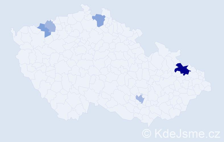 Příjmení: 'Ihring', počet výskytů 14 v celé ČR