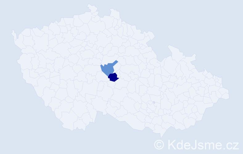Příjmení: 'Čabelická', počet výskytů 4 v celé ČR