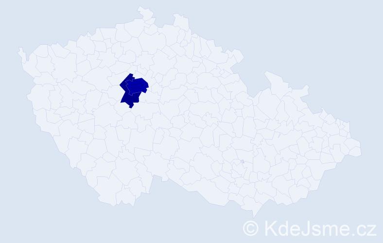 Příjmení: 'Filcík', počet výskytů 8 v celé ČR