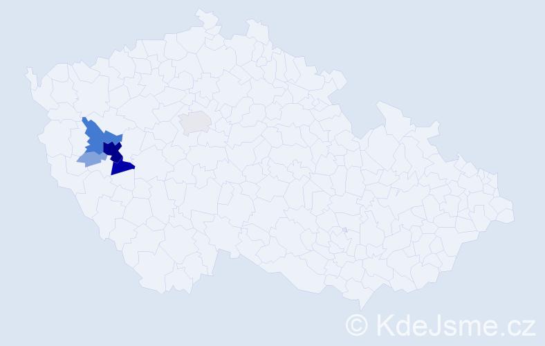 Příjmení: 'Haschová', počet výskytů 34 v celé ČR