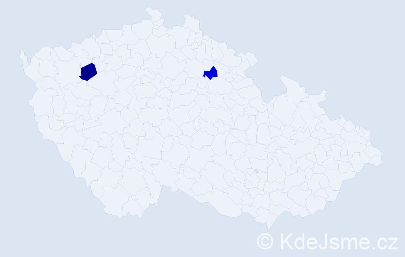 Příjmení: 'Lebedynskyj', počet výskytů 2 v celé ČR