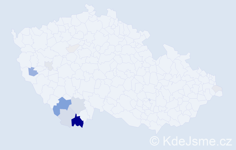 Příjmení: 'Interholz', počet výskytů 36 v celé ČR