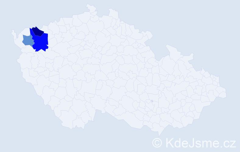 Příjmení: 'Heinicová', počet výskytů 4 v celé ČR