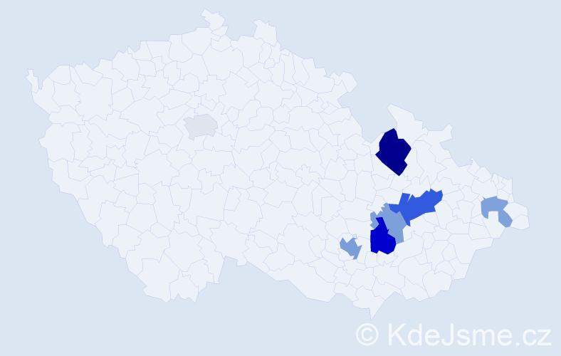 Příjmení: 'Frainšicová', počet výskytů 14 v celé ČR