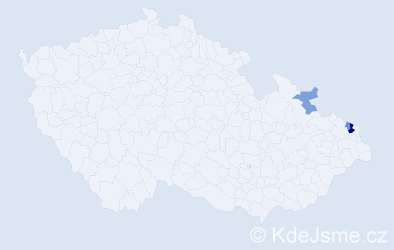 Příjmení: 'Byrtová', počet výskytů 6 v celé ČR