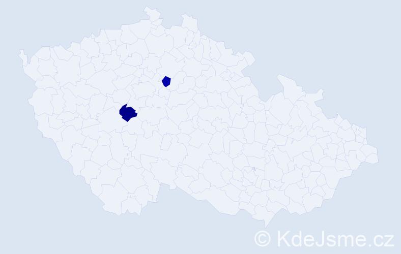 Příjmení: 'Lehoťák', počet výskytů 2 v celé ČR