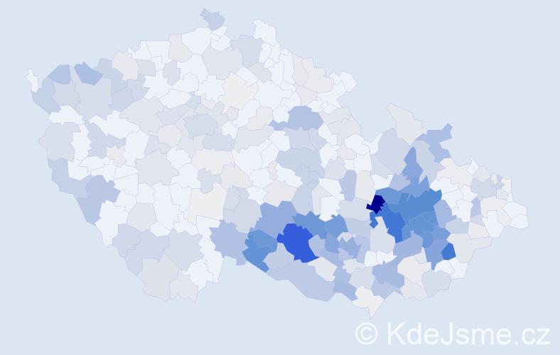 Příjmení: 'Kopečná', počet výskytů 1140 v celé ČR