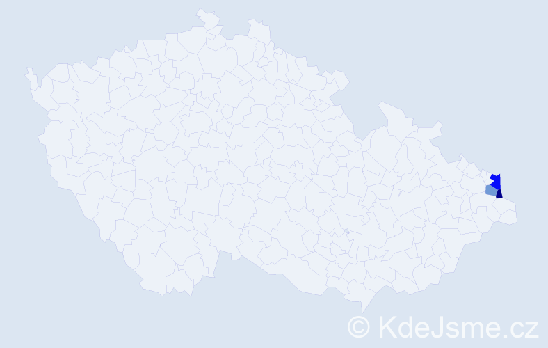 Příjmení: 'Berglovec', počet výskytů 4 v celé ČR