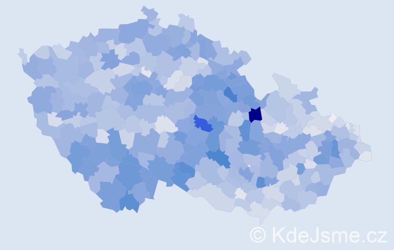 Příjmení: 'Marková', počet výskytů 11464 v celé ČR