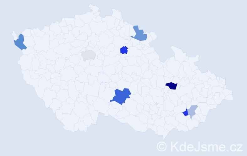 Příjmení: 'Amanová', počet výskytů 16 v celé ČR