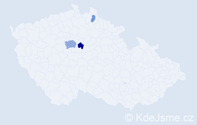 Příjmení: 'Čabart', počet výskytů 9 v celé ČR