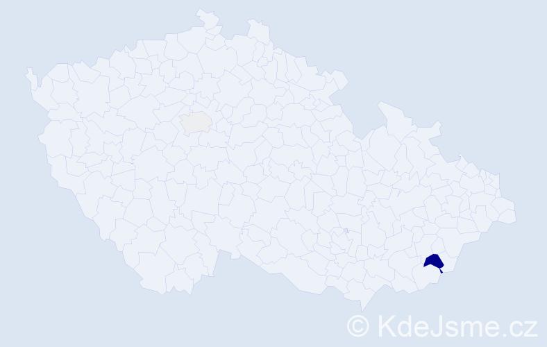 Příjmení: 'Baryal', počet výskytů 4 v celé ČR
