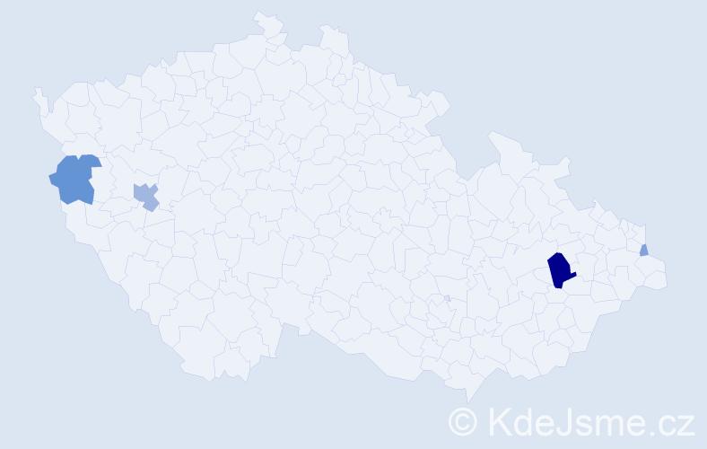 Příjmení: 'Czyz', počet výskytů 11 v celé ČR