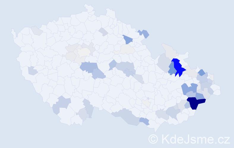 Příjmení: 'Černota', počet výskytů 265 v celé ČR