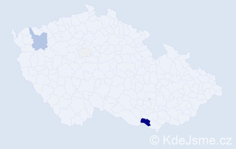 Příjmení: 'Bobojčev', počet výskytů 7 v celé ČR