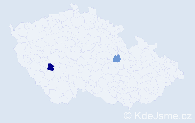 Příjmení: 'Ďuriánová', počet výskytů 5 v celé ČR