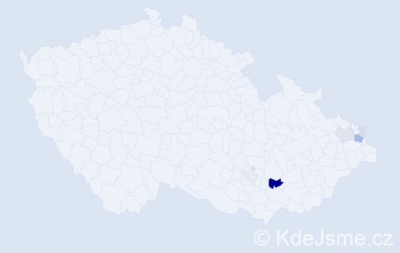 Příjmení: 'Čánková', počet výskytů 11 v celé ČR