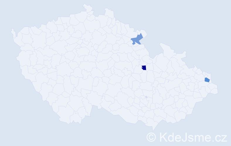 Příjmení: 'Golušková', počet výskytů 4 v celé ČR