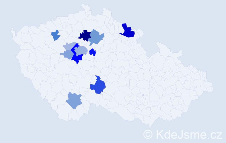 Příjmení: 'Attl', počet výskytů 30 v celé ČR