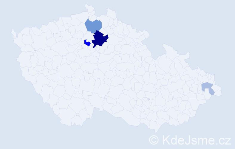 Příjmení: 'Ďurfinová', počet výskytů 12 v celé ČR
