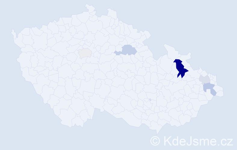 Příjmení: 'Dembovská', počet výskytů 8 v celé ČR