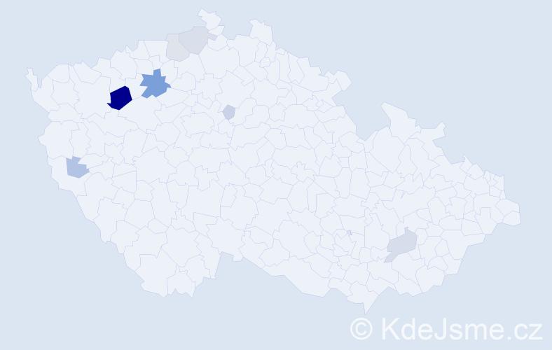 Příjmení: 'Imríšek', počet výskytů 24 v celé ČR