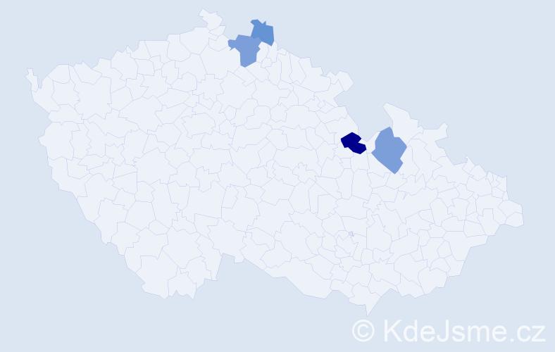 Příjmení: 'Heckenberger', počet výskytů 9 v celé ČR