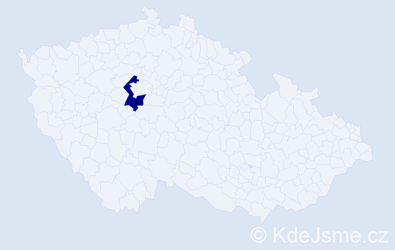 """Příjmení: '""""El-Jammalová""""', počet výskytů 1 v celé ČR"""