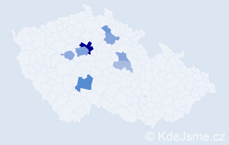 Příjmení: 'Češpivo', počet výskytů 32 v celé ČR