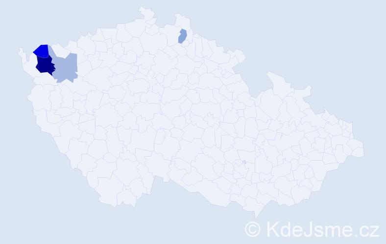Příjmení: 'Čury', počet výskytů 9 v celé ČR