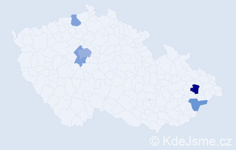 Příjmení: 'Gómezová', počet výskytů 10 v celé ČR