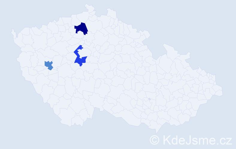 Příjmení: 'Ilčuk', počet výskytů 3 v celé ČR