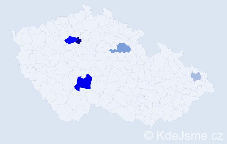 Příjmení: 'Grosmannová', počet výskytů 6 v celé ČR