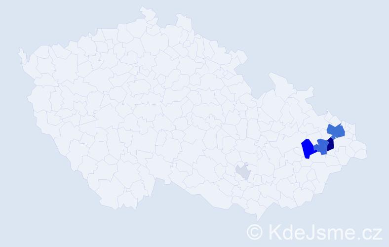 Příjmení: 'Genserková', počet výskytů 16 v celé ČR