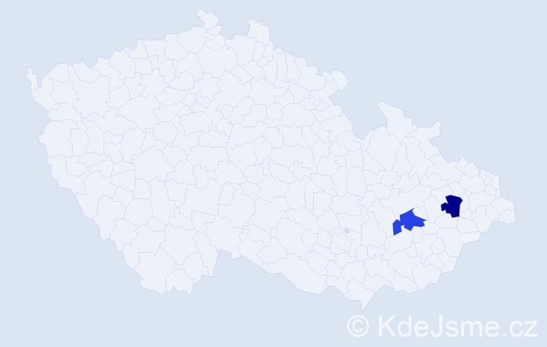 Příjmení: 'Ázsóthová', počet výskytů 2 v celé ČR