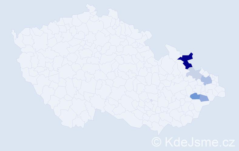 Příjmení: 'Čadecký', počet výskytů 14 v celé ČR