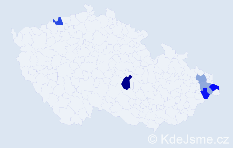 Příjmení: 'Glajc', počet výskytů 22 v celé ČR