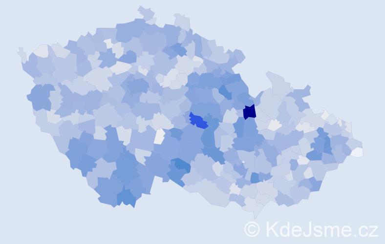 Příjmení: 'Marek', počet výskytů 10825 v celé ČR
