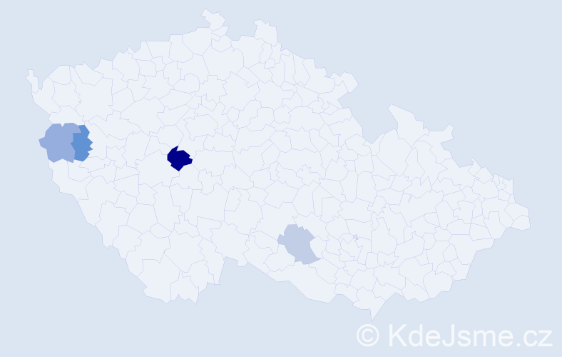 Příjmení: 'Igerský', počet výskytů 6 v celé ČR
