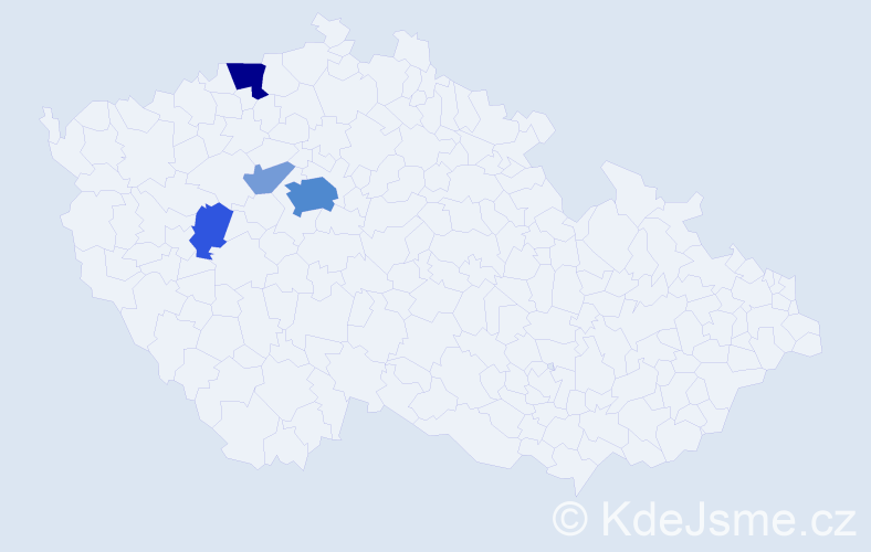 Příjmení: 'Blesk', počet výskytů 16 v celé ČR