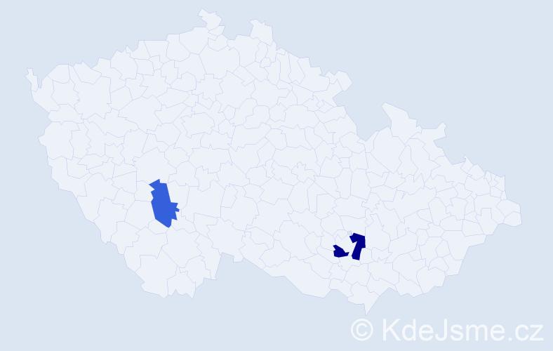 Příjmení: 'Hladilín', počet výskytů 3 v celé ČR