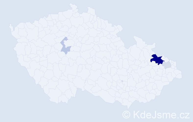 Příjmení: 'Halátek', počet výskytů 20 v celé ČR