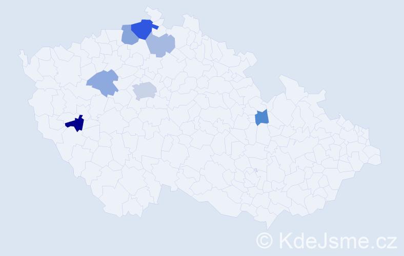 Příjmení: 'Grosse', počet výskytů 16 v celé ČR