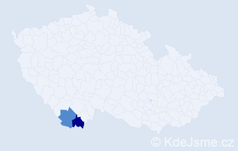 Příjmení: 'Hobiger', počet výskytů 2 v celé ČR