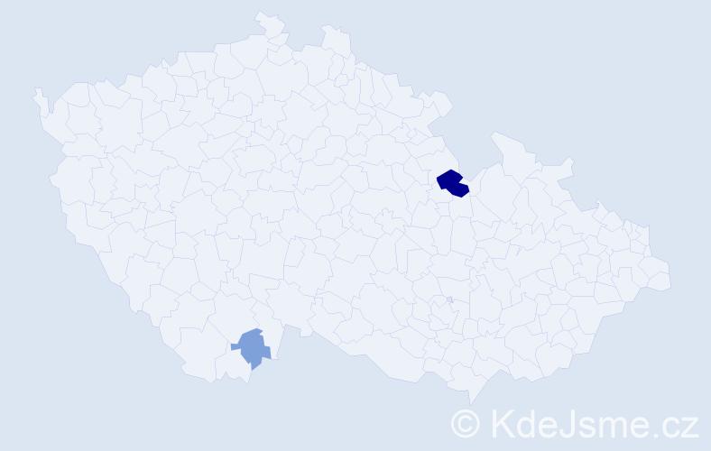 Příjmení: 'Knizner', počet výskytů 7 v celé ČR
