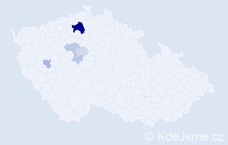 Příjmení: 'Härting', počet výskytů 14 v celé ČR
