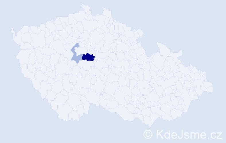 Příjmení: 'Festinová', počet výskytů 5 v celé ČR