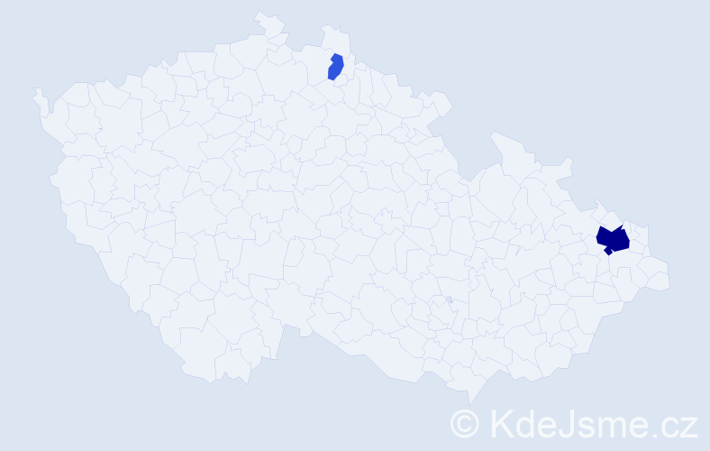 Příjmení: 'Fešárová', počet výskytů 7 v celé ČR