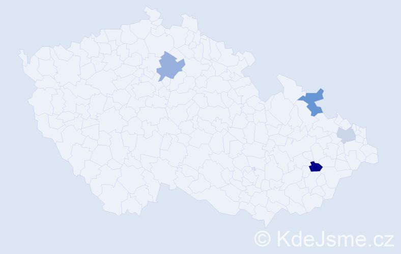 Příjmení: 'Ďurčovičová', počet výskytů 4 v celé ČR