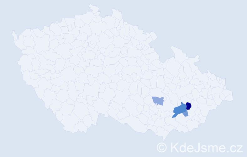 Příjmení: 'Majkrič', počet výskytů 7 v celé ČR